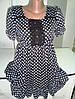 Шифоновое платье в горох молодежное