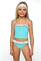 Детский купальник для девочки раздельный model 40