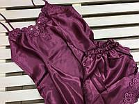 Красивая атласная женская пижама Jasmin  M,L, фото 1