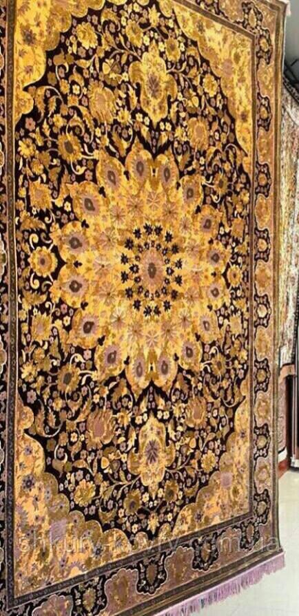 Купить классический ковер золотого цвета, ковры золотая классика, богатые ковры Киев
