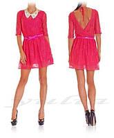 Гипюровое молодежное платье, фото 1