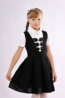 Элегантный детский сарафан для школы  чёрного цвета