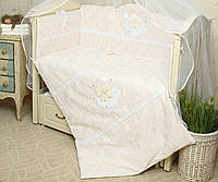 Комплект сменного постельного белья в кроватку Нежность