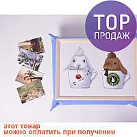 Поднос на подушке Крольчата / аксессуары для дома