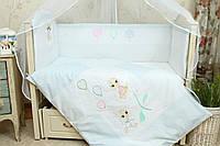 Детский комплект сменного белья в кроватку Бусинка