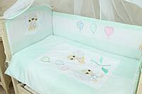 Сменное постельное белье в детскую кроватку Бусинка