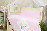 Защита в детскую кроватку Клубничка