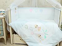 Бортики в детскую кроватку для малышей Бусинка