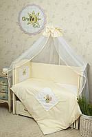 Детский комплект постельного белья в кроватку Мишка