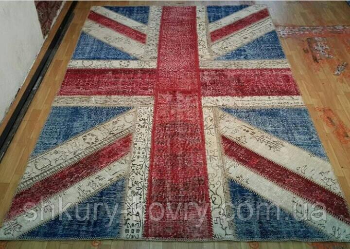 Безворсовый износоустойчивый ковер британский флаг