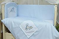 Комплект постельного белья в детскую кроватку Зайчик