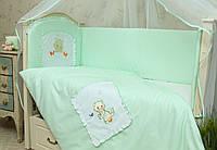 Комплект постельного белья в детскую кроватку Котик