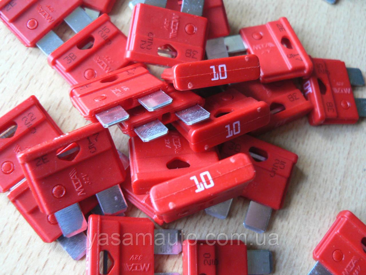 Предохранитель штыревой евростандарт 10А MTA автомобильный красный
