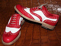 Красивые женские туфли (37, кожа, Италия)