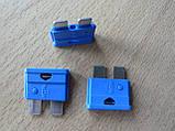Предохранитель штыревой евростандарт 15А 12v MTA автомобильный синий мта 15а 12в, фото 2