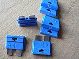 Предохранитель штыревой евростандарт 15А 12v MTA автомобильный синий мта 15а 12в, фото 3