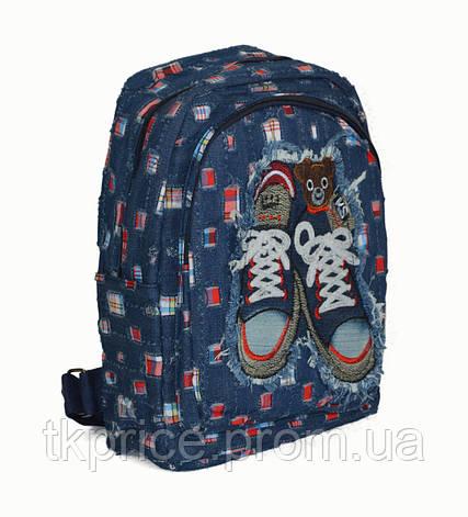 Джинсовый  рюкзак для школы и прогулок с кедами, фото 2