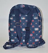 Джинсовый  рюкзак для школы и прогулок с кедами, фото 3