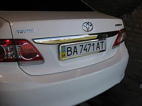 Накладка над номером Toyota Corolla (2010+)