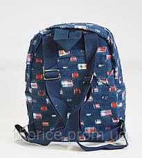 Джинсовый  рюкзак для школы и прогулок с котиком, фото 3