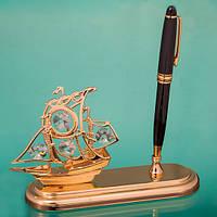 Подарочная ручка «Каравелла» с кристаллами Сваровски
