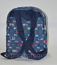 Джинсовый  рюкзак для школы и прогулок с сердечком, фото 3