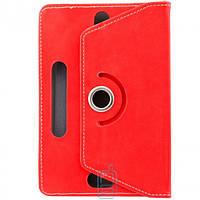 Чехол-книжка 7 дюймов с разворотом, уголки-резинка Красный