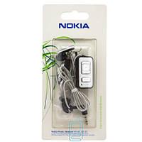 Наушники с микрофоном Nokia AD-43 с пультом таблетки черные