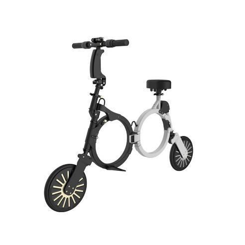 Складной электрический велосипед DOUNA K1, 10дюймов, 250W, 20км/ч, 12-15км, фото 1