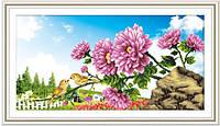 """Набор для вышивки крестиком 3Д """"Цветы на фоне неба"""""""