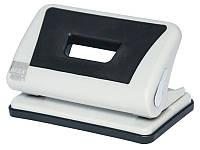Діркопробивач пластиковий з гумовою вставкою, до 10арк., сірий