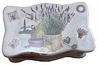 """Шкатулка для чайных пакетов """"Лаванда"""" (26*15см.) ольха"""