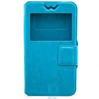 Универсальный чехол-книжка 5.5″ силикон-магнит голубой