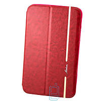 Чехол-книжка для Samsung Galaxy Tab 3 силиконовая накладка Lishen Красный