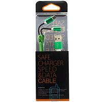 USB шнур Zipper Lightning and Micro USB original charger зеленый