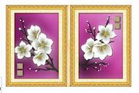 """Диптих набор для вышивания """"Веточка белых цветков"""""""
