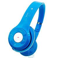 Bluetooth наушники с микрофоном MP3 FM S460 голубые