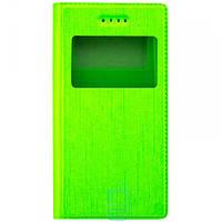 Универсальный чехол-книжка однотонный 1 окно 3.5-3.7″ 6#-XS зеленый