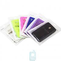 Чехол силиконовый цветной iPhone 5 фиолетовый