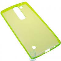 Чехол силиконовый цветной LG Spirit H422 зеленый