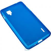Чехол силиконовый цветной LG Optimus G/E975 синий