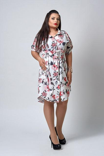2a85d2eee9f Легкое летнее батальное платье больших размеров