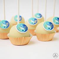 Кейк-попсы с логотипом. Брендированные кейк-попсы, фото 1