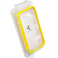 Чехол-бампер пластиковый для iPhone 4S желтый