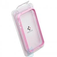 Чехол-бампер пластиковый для iPhone 4S розовый