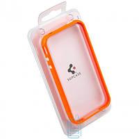 Чехол-бампер пластиковый для iPhone 4S оранжевый