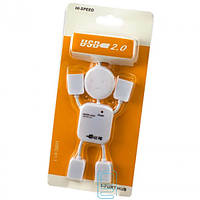 USB Hub H-34 4 PORT 0.5m Little man white