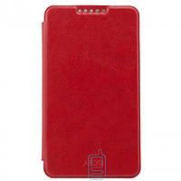 Чехол-книжка боковая Lenovo A529 красный