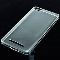 Чехол силиконовый Xiaomi Mi4c, Mi4i прозрачный