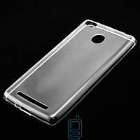 Чехол силиконовый Xiaomi Redmi 3X, 3S, 3S Pro, 3 Pro прозрачный